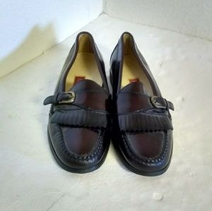 Cole Haan Burgundy Leather Men's Loafers.
